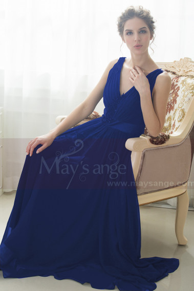 Blue evening dress - L747 - L747 #1