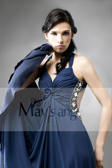 Blue evening dress - Dress evening-dress maysange Alizé - L001 #1