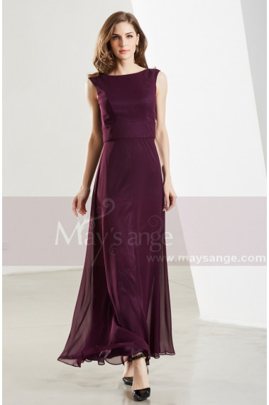 Prom Dresses Collection 2019 - Classic Chiffon Purple Long Formal Dress For Prom - L1901 #1