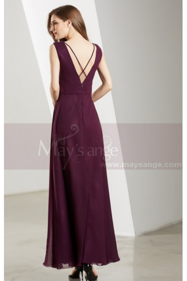 Classic Chiffon Purple Long Formal Dress For Prom - L1901 #1