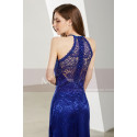 Side-Slit Lace Blue Wedding-Guest Dresses - Ref L1905 - 03