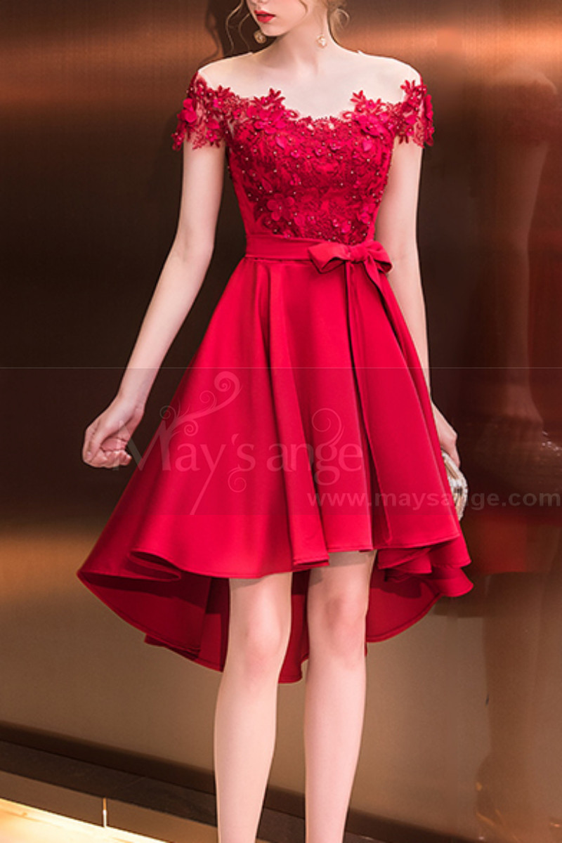 robe chic fille rouge