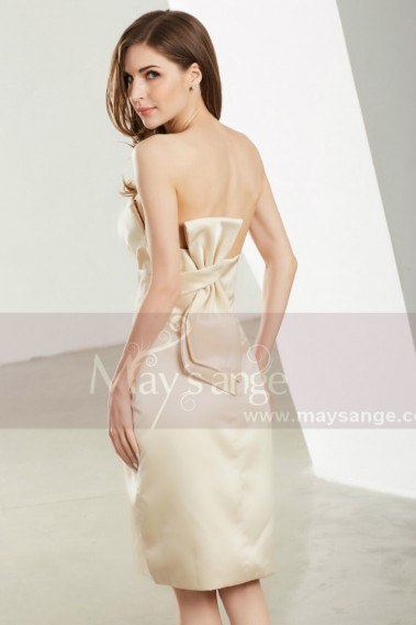 Robe De Cocktail Bustier Champagne