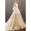 Bohemian-Inspired Wedding Dresses With Pretty Knot And Very Long Train - Ref M1903 - 05