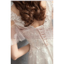 V-Neck Embroidered Bodice Bohemian Wedding Dresses With Flounce Sleeve - Ref M1906 - 05
