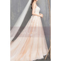 Ivory Spaghetti Strap Ball Gown Wedding Dresses Sweetheart Bodice with Lace Appliqued And Court Train - Ref M1912 - 06