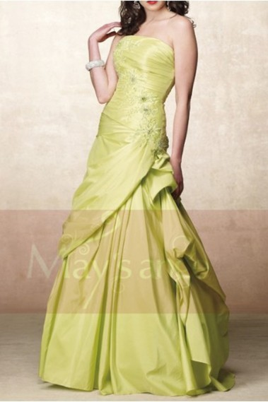 Green evening dress - Ball gown Vert Printanier - P045 #1
