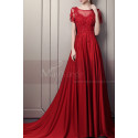 Elegant Long Ball Gown Dress With Sleeves - Ref L1933 - 03
