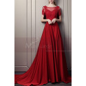 Elegant Long Ball Gown Dress With Sleeves - Ref L1933 - 02