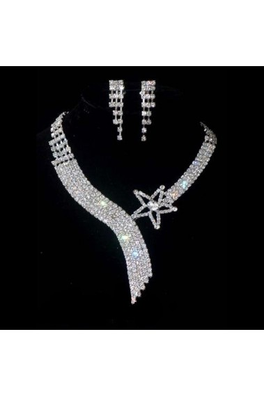 Sparkling bridal necklace shooting star - E023 #1