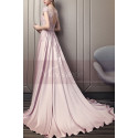Embroidered Pink Long Formal Gowns With Sleeves - Ref L1934 - 05