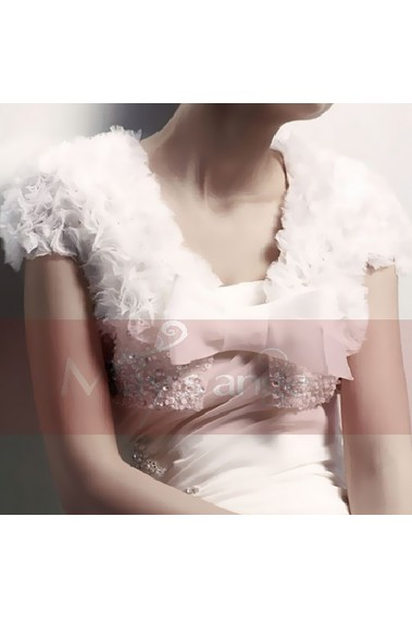 Fashion white feather bolero wedding - BOL014 #1