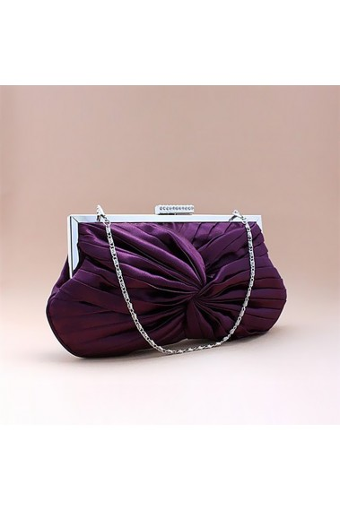 violet classic clutch bag with chain - SAC041 #1