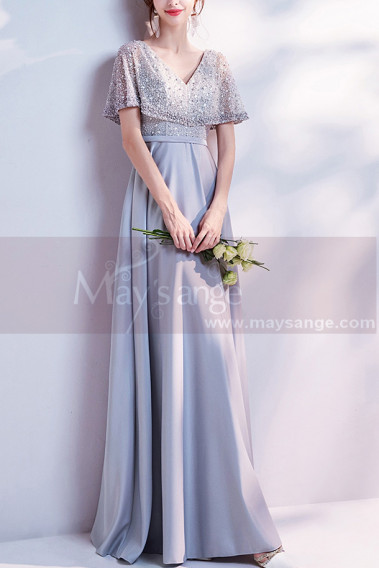 Prom Dresses Collection 2019 - copy of Embroidered Pink Long Formal Gowns With Sleeves - L1942 #1