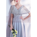 V-Neck Beaded Bodice Mother Of The Bride Dress - Ref L1942 - 04