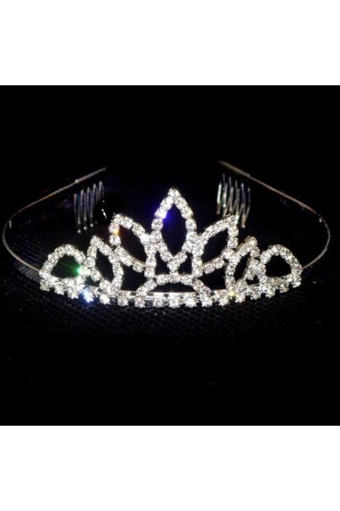 Princess wedding tiara rhinestone leaf - D006 #1