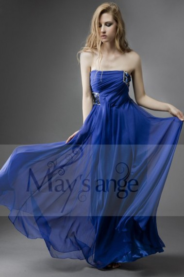 Long bridesmaid dress - Beach Cretan evening dress in muslin with beautiful sequins - L017 #1