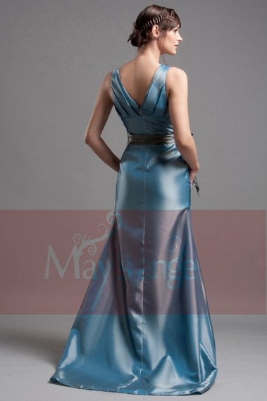 Formal evening dress Amanda in taffeta with small train - L019 Promo #1