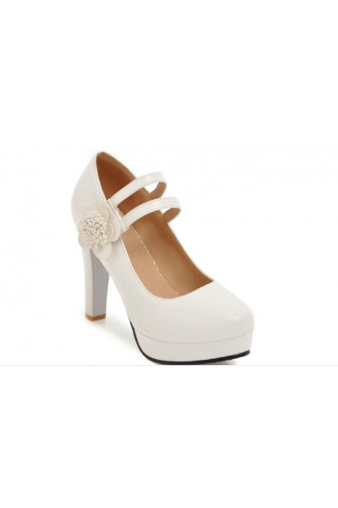 Affordable White Classic Wedding Shoes - CH101 #1