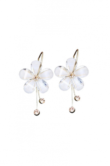 White flower ear cuff a golden touch - B106 #1
