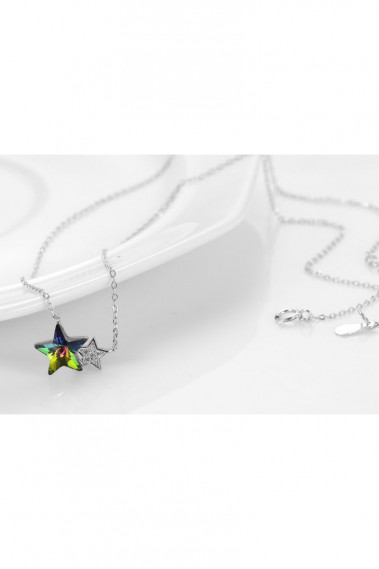 Anniversary necklace with double star - F060 #1