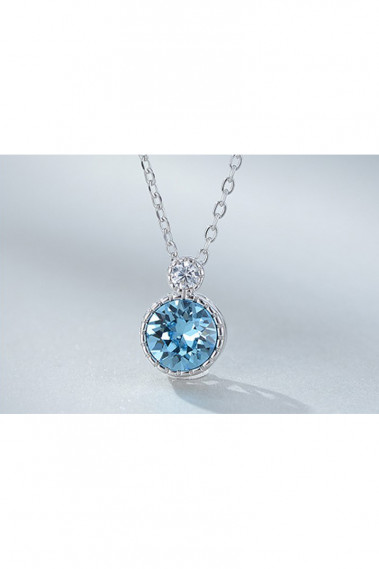 Cristal blue chain pendants for womens - F063 #1