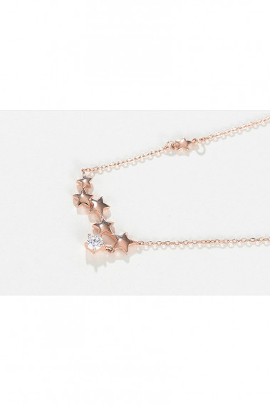 Chain golden star necklace and crystal - F066 #1