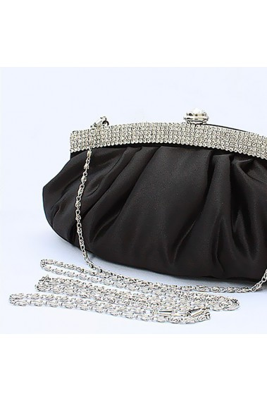 Black evening bag with shoulder strap - SAC089 #1