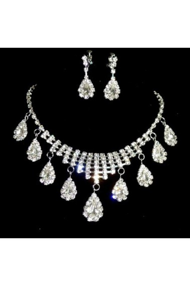 Gorgeous Bridal rhinestone necklace set - E057 #1