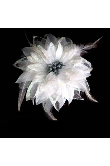 Beautiful White Flower Bridal Hairstyle - B026 #1