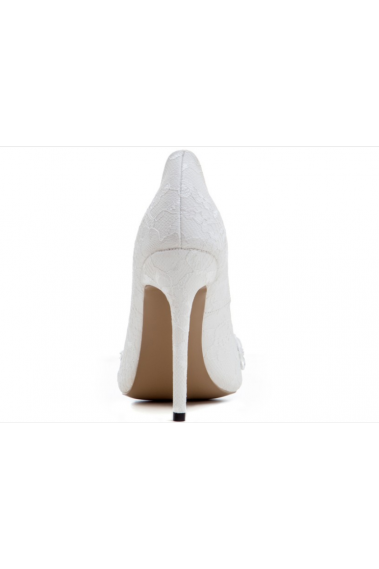 Lace White Comfortable Pumps For Wedding - CH105 #1
