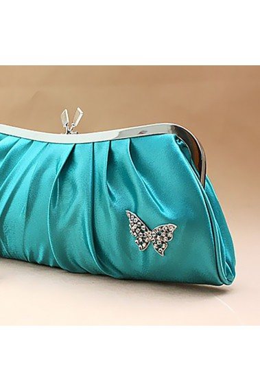 Butterfly turquoise evening clutch bag - SAC092 #1