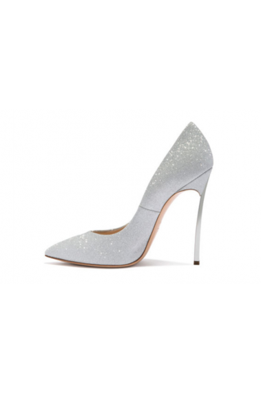 Beautiful Silver Glitter Wedding Shoes - CH108 #1