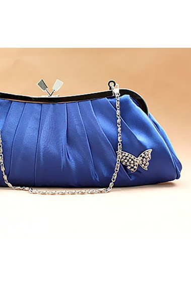Royal blue satin clutch bags butterfly - SAC093 #1