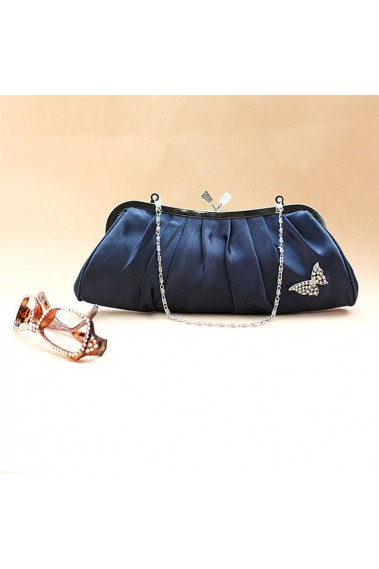 Elegant evening navy blue clutch bag - SAC096 #1