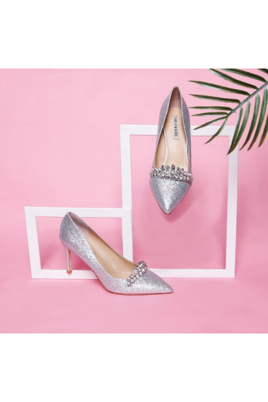 Rhinestone Silver Glitter Wedding Shoes - CH113 #1