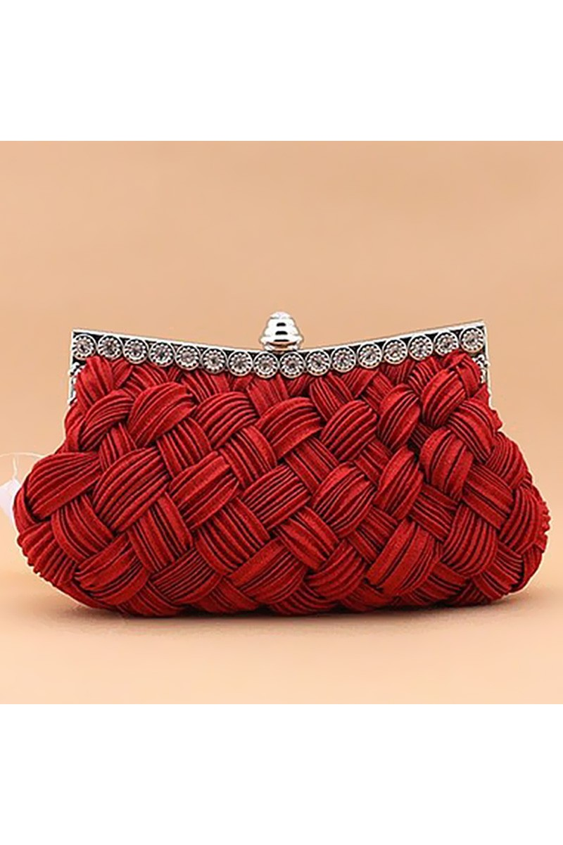 Sac Entrelacement d'hiver rouge - Ref SAC109 - 01