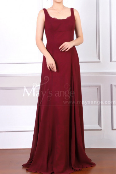 copy of Beautiful Raspberry Formal Evening Gowns With An Open Back