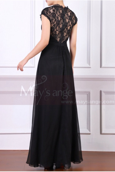 Back Lace Black Formal Dresses For Women With Strap - L1953 #1