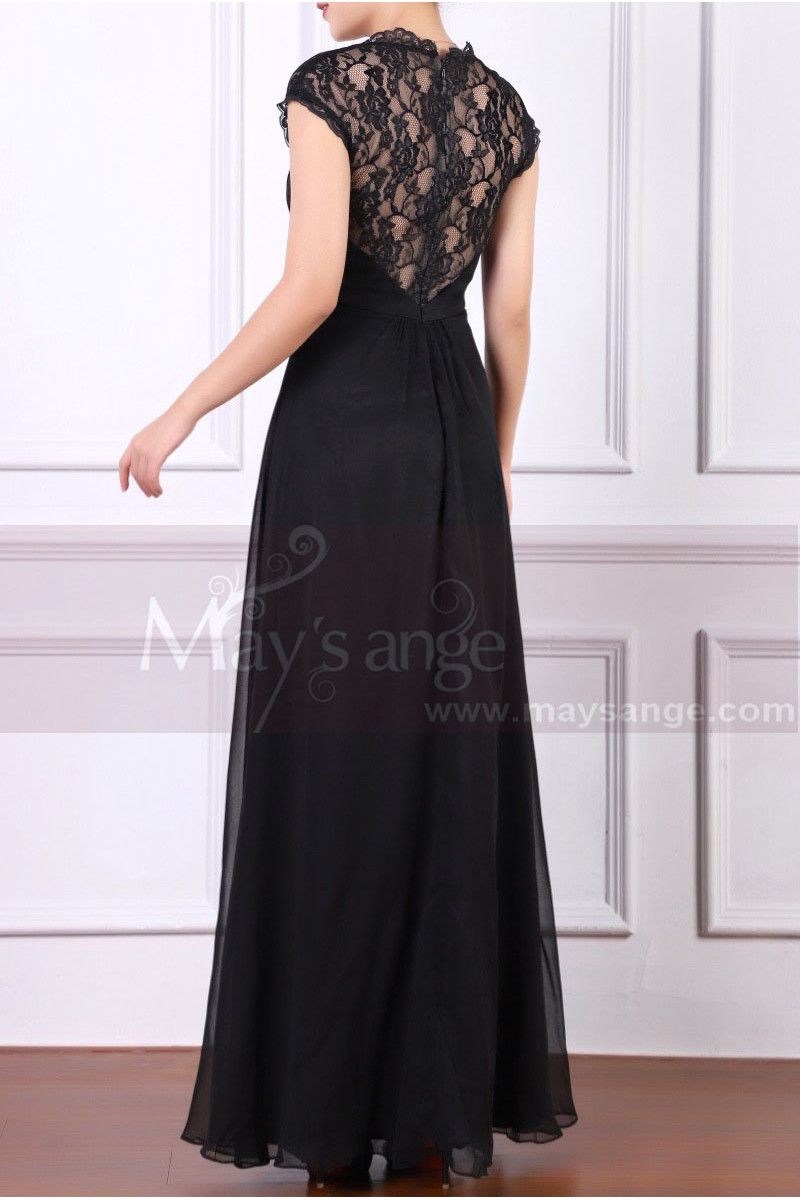 Back Lace Black Formal Dresses For Women With Strap - Ref L1953 - 01