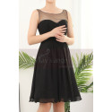 Cutout Back Little Sexy Short Chiffon Black Dress - Ref C904 - 03
