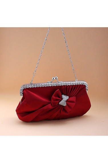 Stylish satin burgundy evening bags - SAC115 #1