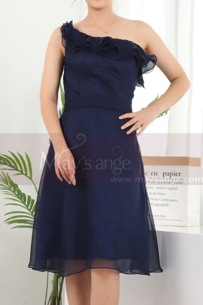 copy of Ruched-Bodice Short Party Dress - Ref C909 - 01