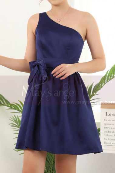 Blue cocktail dress - copy of Ruched-Bodice Short Party Dress - C911 #1