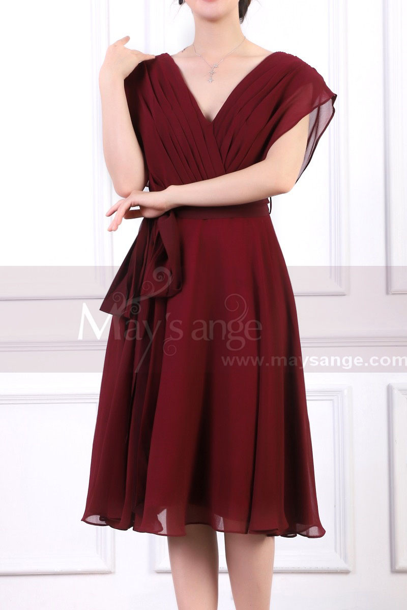copy of Ruched-Bodice Short Party Dress - Ref C914 - 01