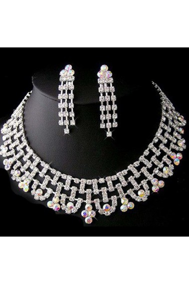 Multicolor rhinestone necklace amande - E088 #1