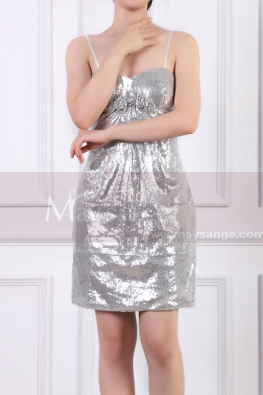 Sparkling Sequin Short New Years Eve Dress With Thin Strap - C919 #1