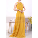 Licou Collar Long Sleeveless  Mustard Yellow Prom Dress - Ref L1968 - 02