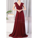 copy of Beautiful Raspberry Formal Evening Gowns With An Open Back - Ref L1974 - 02