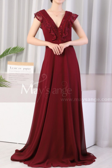 Red evening dress - copy of Beautiful Raspberry Formal Evening Gowns With An Open Back - L1974 #1